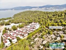 Akbük Yeni Pınarda Satılık Deniz Manzaralı Arsa