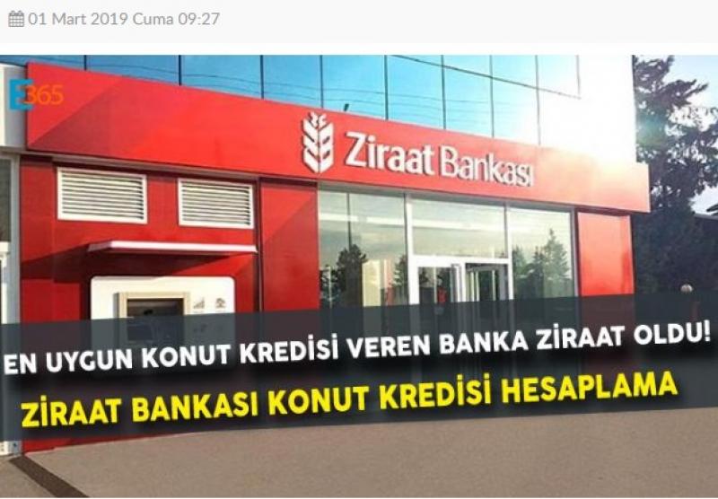 Ziraat Bankası Konut Kredilerini Düşürdü.