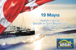 19 Mayıs Gençlik ve Spor Bayramı Kutlu Olsun