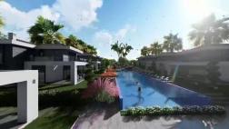 Didim de lüks sitede havuzlu 500 m2 arsada tam müstakil villa